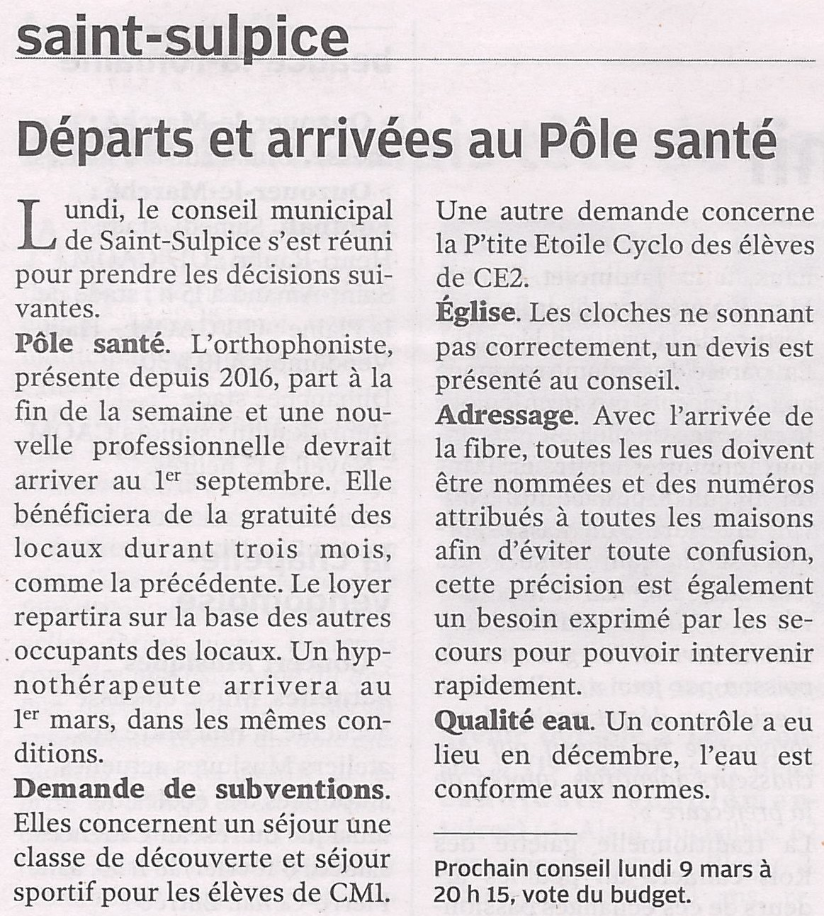 Article NR du 08/02/2020