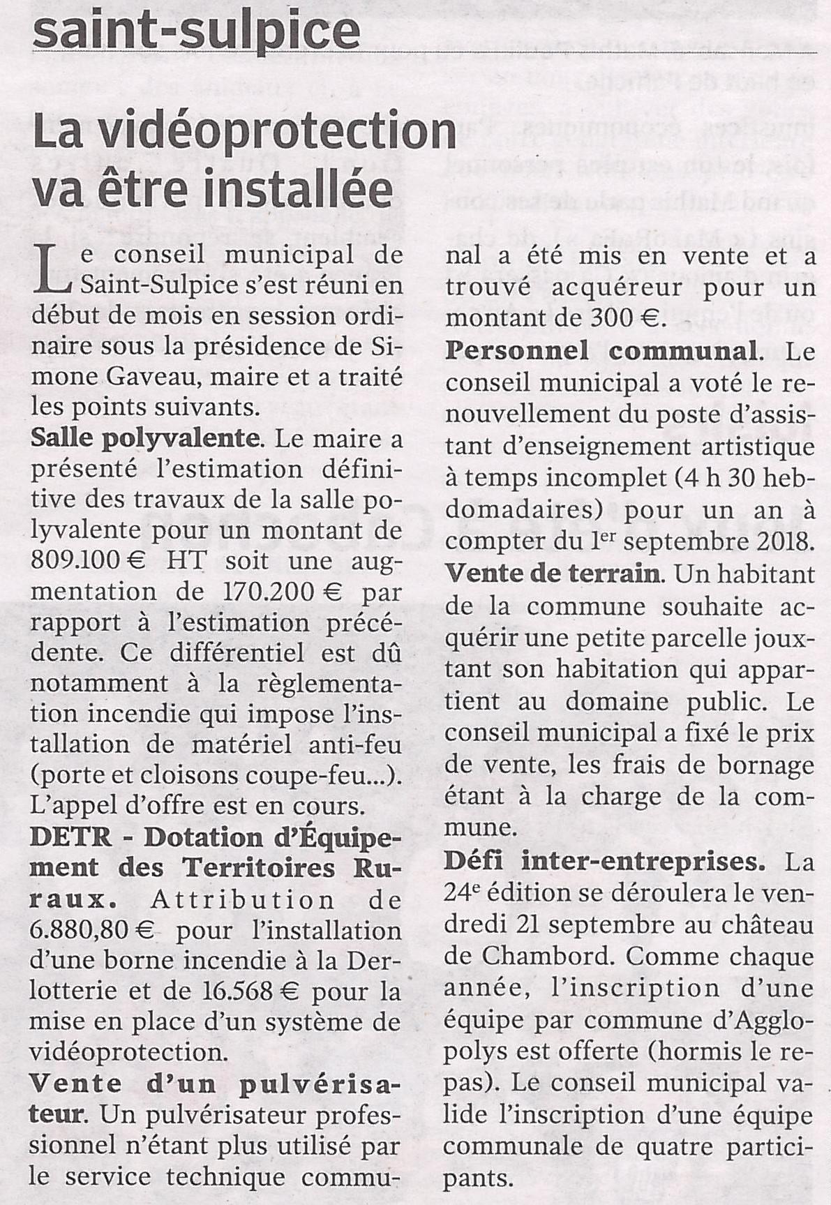 Article NR du 14/07/2018