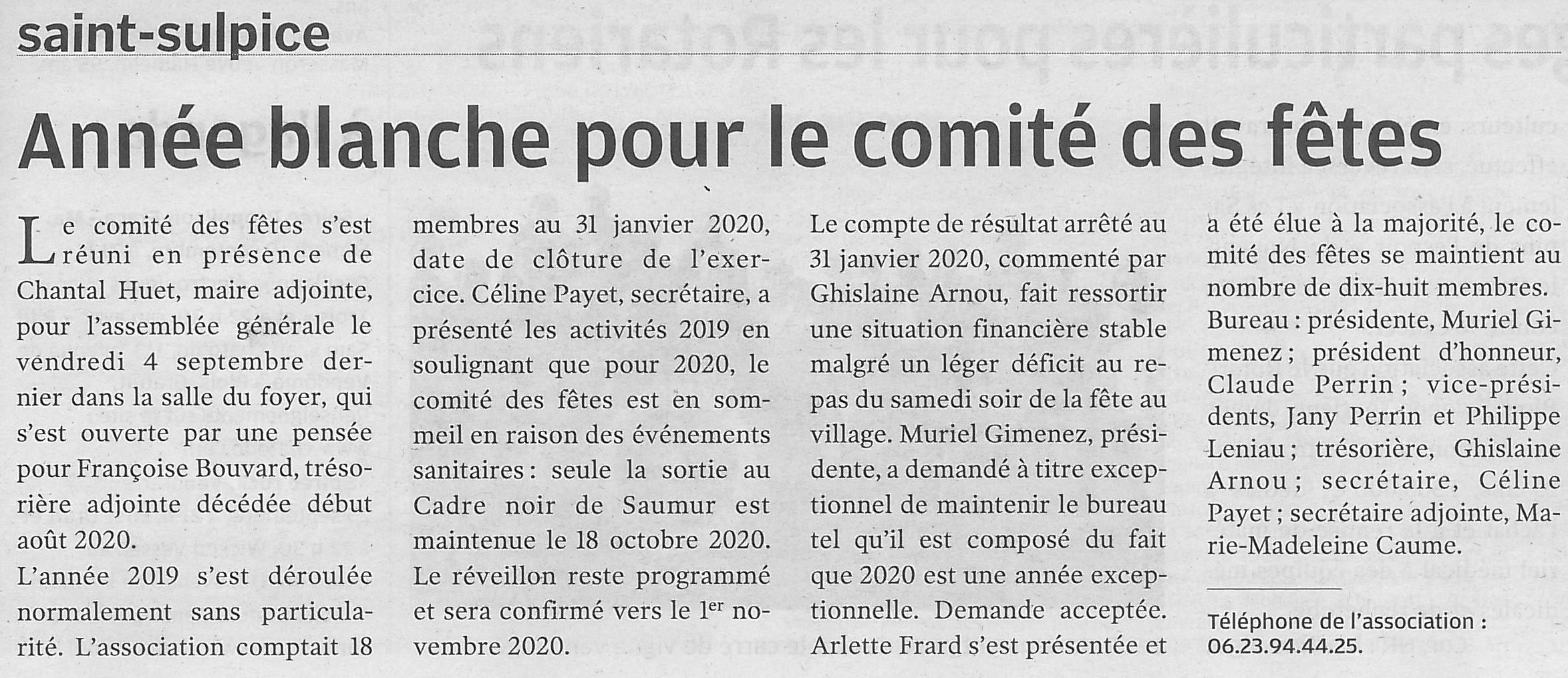 Article NR du 18/09/2020