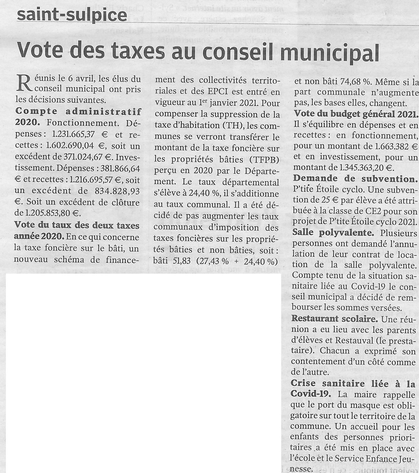 Article NR du 23/04/2021