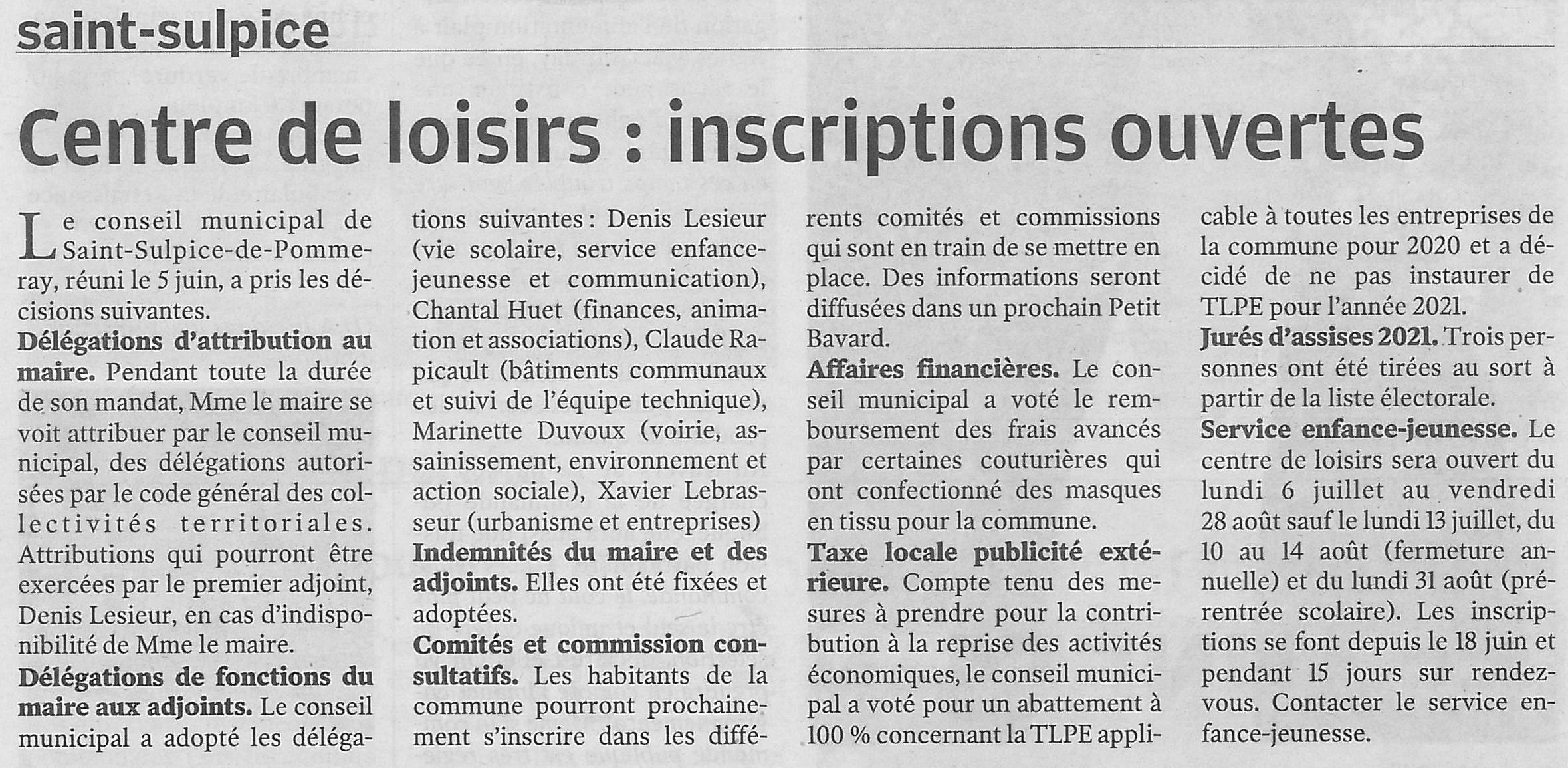 Article NR du 23/06/2020