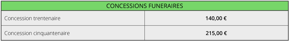 Concessions Funéraires