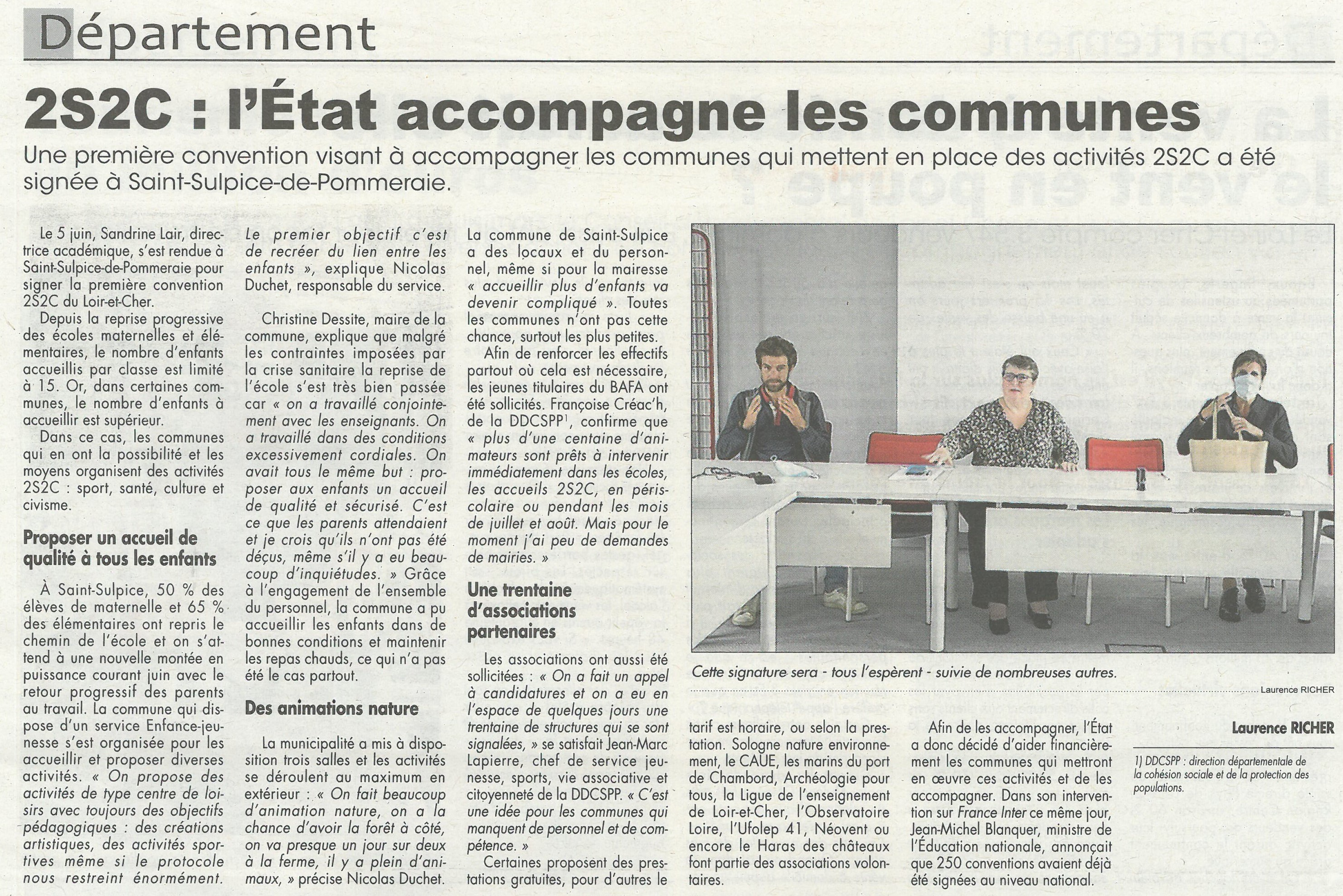 Article La Renaissance du 12/06/2020